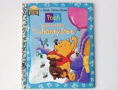 1996 Disney Winnie the Pooh Little Golden Book, Winnie the Pooh and the Honey Tree, Pooh Bear Story, Hardback, Golden Books, 00920