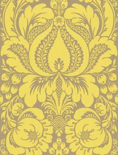 Loving this wallpaper for the dining room
