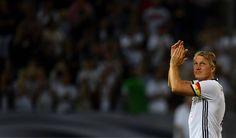 The legend Bastian Schweinsteiger applauds the fans as he bids farewell to the German National Team.