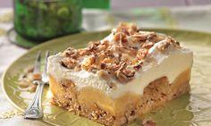 Apfel-Nuss-Kuchen mit Schmandbelag Rezept: Ein saftiger Nusskuchen mit Äpfeln und einer Schmandsahne für Gäste - Eins von 7.000 leckeren, gelingsicheren Rezepten von Dr. Oetker!