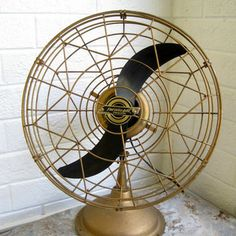 1950s Art Deco Table Fan - Blows Cold