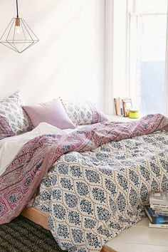 #Plum & Bow #Sofia Block Duvet #Cover - Urban Outfitters
