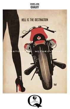 Aristocratic Motorcyclist Artwork – Moto Lady