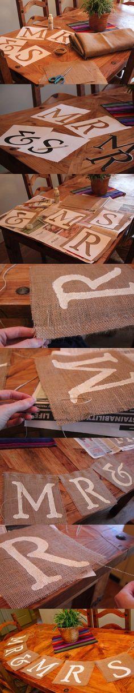 Banderín DIY decorativo / http://rusticweddingchic.com