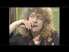 Robert Plant - interview on Norwegian television 1990 - YouTube