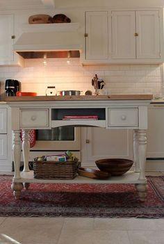 diy kitchen island, home decor, kitchen design, kitchen islands, DIY Island from Sofa Table