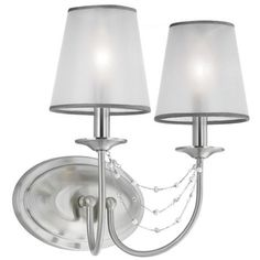 """Feiss Aveline 13 1/2"""" High Brushed Steel 2-Light Wall Sconce -"""