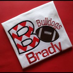 Personalized Football Shirt by dazzlemegirl on Etsy, $23.00