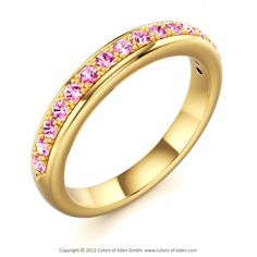 Sapphire Ring HALF MOON Band #pink #sapphire #ring