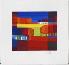 ton schulten, Kleurrijke velden II, 2004