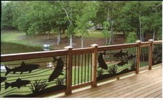 Artistic Steel Panels for a deck. NatureRails. August 2010 Cabin Life