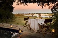 dinner for two on an African Safari