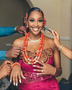 "Ugwuamaka & Emeka's Traditional Wedding will Have You Saying ""Igbo Kwenu"" African Fashion Traditional, African Traditional Wedding, Traditional Wedding Dresses, Traditional Weddings, Traditional Styles, Igbo Bride, Igbo Wedding, African Wedding Attire, African Beauty"