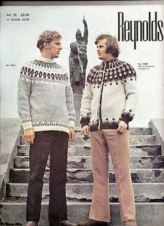 Reynolds New Icelandic Fashions for Men and Women Vol 78 Vintage Knit Patterns