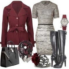 Sweater dresses are wonderful for winter business casual.