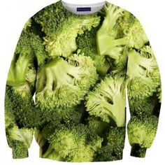 Broccoli wear - These 8 Crazy Food Sweaters By Shelfies Are Absolutely Real, May Scare You Ugly Sweater Day, Sweater Weather, Jumper, Weird Food, Crazy Food, Drip Dry, Cool Shirts, Awesome Shirts, Swagg