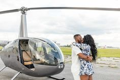 Daniel pops the question to Nia in front of a helicopter at Kissimmee, Florida's MaxFlight helicopters Proposal Photography, Marriage Proposals, Orlando Florida, Helicopters, Baby Strollers, Baby Prams, Prams, Orlando
