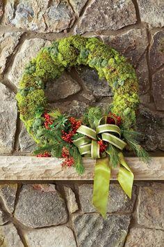 Organic Moss Christmas Wreath
