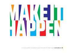 There's a fresh 365 on the clock. Are you ready to make it happen? Live up to your true potential. Turn possibility into a plan. Set the world on fire. Let's go. Let's do this. #makeithappen