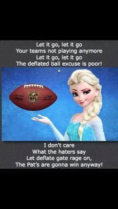 Elsa + Patriots = perfect!