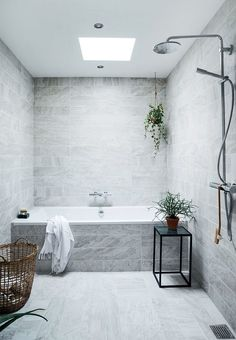 Like these tiles. Consider for shower over bath layout if family bathroom space is tight.                                                                                                                                                     More