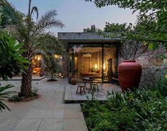 Garden Landscape Design, Garden Landscaping, Grid Architects, Reducing Carbon Footprint, India Design, House On The Rock, Inside Outside, Villa Design, Ahmedabad