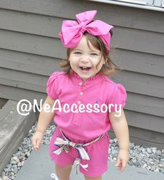 Hot Pink Baby Turban head Wrap Bright Pink Infant by NeAccessory