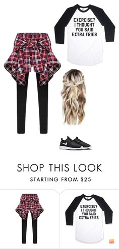 """""""#OOTD"""" by salivalopez ❤ liked on Polyvore featuring NIKE"""