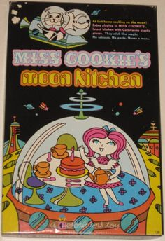 COLORFORMS: 1969 Miss Cookie's Moon Kitchen Set #Vintage #Toys