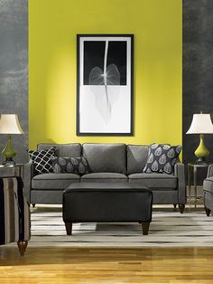 A bright pop of green. Green is a calming color that's very pleasing to the senses. #goodhousekeeping #happyroom