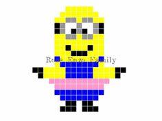 Minion perler bead pattern - RoseEnzoFamily