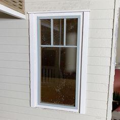 Simple Window Tutorial – Little Vintage Lane Miniatures Dollhouse Miniature Tutorials, Dollhouse Kits, Dollhouse Miniatures, Window Casing, Window Sizes, Paint Stain, Wood Glue, Windows, Simple