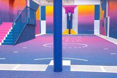 #pigallebasketball #duperré #Paris #colours #design #playground  photo by #thomasguilhabert