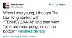 Tonight Show Hashtags: #Misheardlyrics