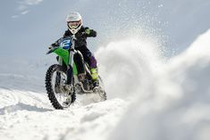 Kate ride her motorcross bike on the snow track Motocross Videos, Motorcross Bike, Scary, Snow, Track, Photography, Behance, Instagram, Stream Bed