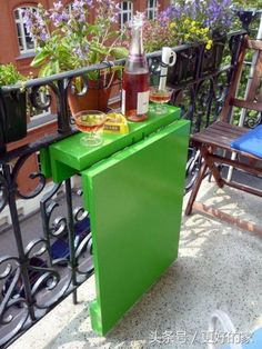 45 Inspiring Mini Bar Design Ideas On Your Apartment Balcony. A balcony is where the heart is and probably this is the reason why we go on adding more and more comforts to our living space. Balcony Bar, Tiny Balcony, Small Balconies, Balcony Ideas, Balcony Garden, Patio Ideas, Balcony Shade, Narrow Balcony, Small Balcony Design