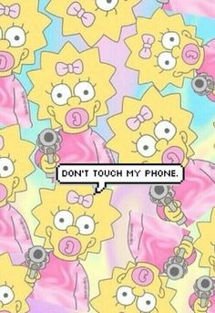 wallpaper, simpsons, and phone
