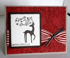 Paper Cottage: Dasher Christmas Card