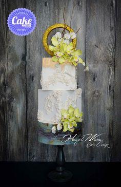 Cymbidium Orchid Wedding Cake - Cake by Hazel Wong Cake Design