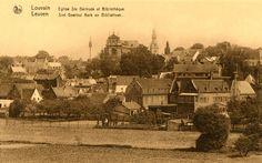 Leuven, ongewoon zicht op de Sint-Michielskerk