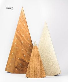 *PRESALE* Get 15% off till November 26! No conditions apply. Set of three stylish wooden christmas trees. Hand-painted with gold and silver paint. Finished with beeswax. Large - 21 cm (8 1/4) Medium - 15 cm (6) Small - 10 cm (4) For faster delivery (about a week), please select PRIORITY