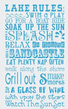 lake quotes and sayings | ... wall art decal home wall art our home quotes sayings will trigger warm