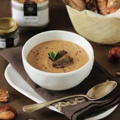 Recette d'automne à la Truffe noire par la Maison Baumont. Velouté de châtaignes à la truffe noire et cèpes Maison Baumont.