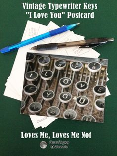 "Vintage Typewriter Keys ""I Love You"" Postcard by #LovesMe_LovesMeNot at  #Gravityx9 Designs #Zazzle -"