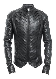 Hot and Edgy Street Wear for the Young Urban Male. Delusion Splice Leather Jacke… Hot and Edgy Street Wear for the Young Urban Male. Style Casual, Men Casual, Revival Clothing, Stylish Mens Fashion, Mens Black Clothing Fashion, Trendy Clothing, Trendy Outfits, Jackett, Leather Men