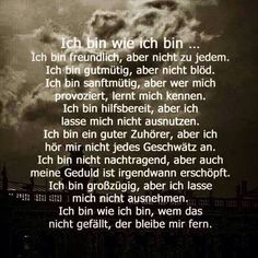 so bin ich eben. Favorite Quotes, Best Quotes, Quotes To Live By, Life Quotes, German Quotes, Positive Words, True Words, Spiritual Quotes, Cool Words