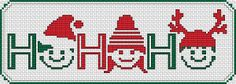 Ho-Ho-Ho Bookmark cross stitch pattern