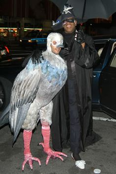 Marc Jacobs in sweet pigeon costume at his holiday party