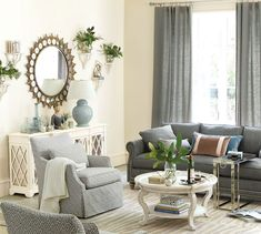 Pretty gray living room