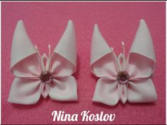 Butterfly Kanzashi - Nina Koslov - YouTube